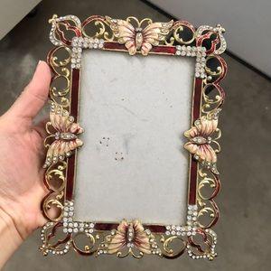 Butterfly rhinestone frames
